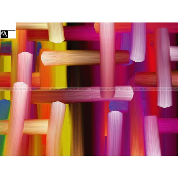 A new day : 80 x 60 cm – Grafisk kunst på lærred af Søren Grooss – Årstal : 2013