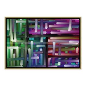 All the way : 60 x 40 cm – Grafisk kunst på lærred af Søren Grooss – Årstal : 2013