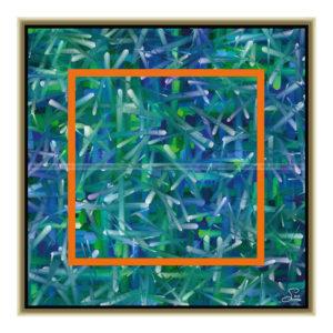 Looking at : 50 x 50 cm – Grafisk kunst på lærred af Søren Grooss – Årstal : 2013