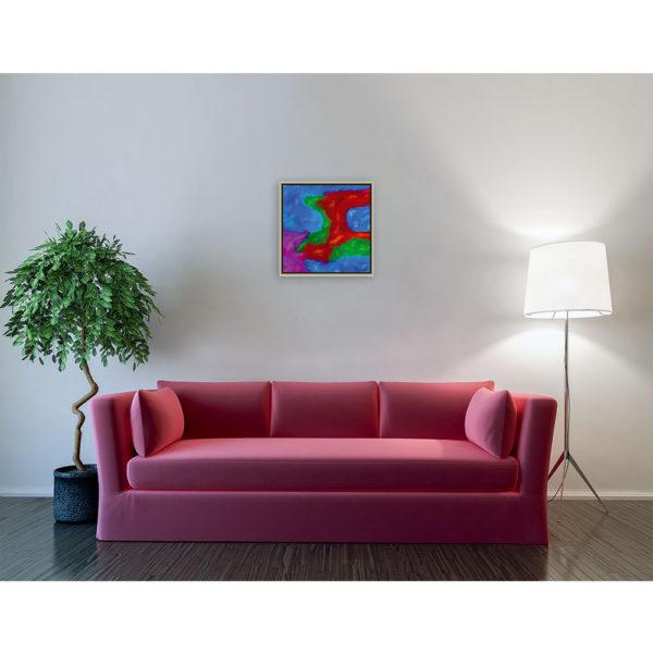 It comes : 50 x 50 cm – Grafisk kunst på lærred af Søren Grooss – Årstal : 2013