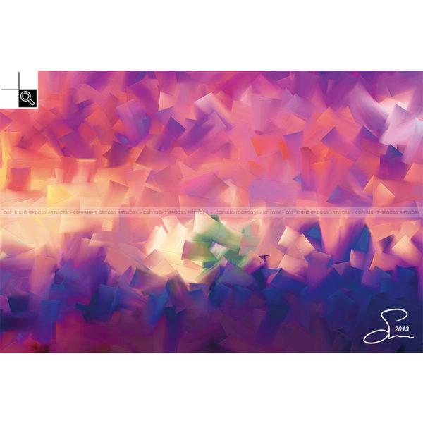 Watching the sunset : 60 x 40 cm – Grafisk kunst på lærred af Søren Grooss – Årstal : 2013