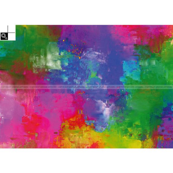 Exploded color cartridges : 70 x 50 cm – Grafisk kunst på lærred af Søren Grooss – Årstal : 2013