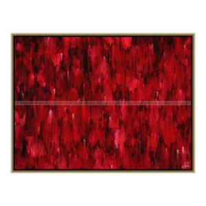Red attack : 80 x 60 cm – Grafisk kunst på lærred af Søren Grooss – Årstal : 2013