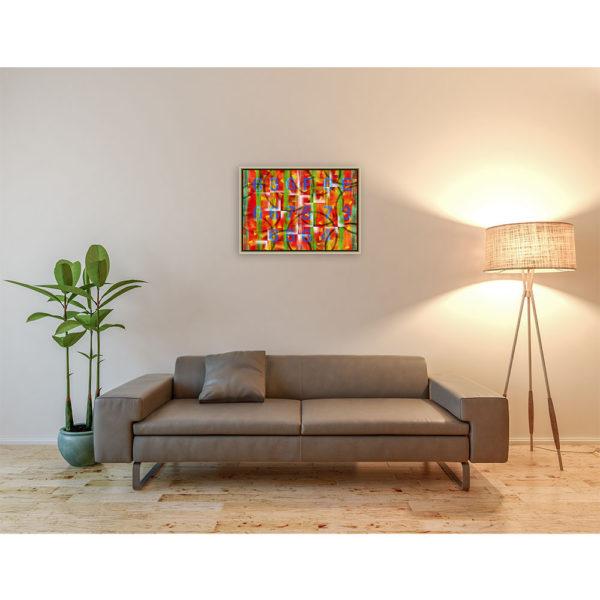 Confused : 70 x 50 cm – Grafisk kunst på lærred af Søren Grooss – Årstal : 2013