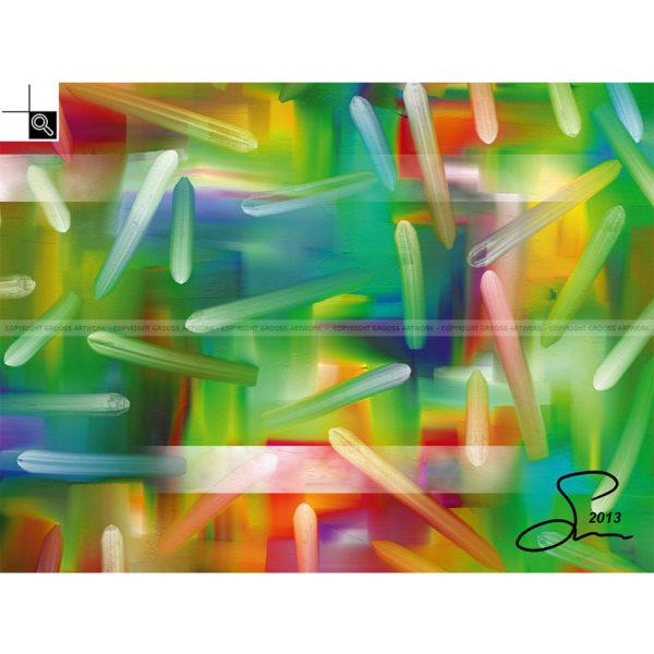 Night lights : 40 x 30 cm – Grafisk kunst på lærred af Søren Grooss – Årstal : 2013