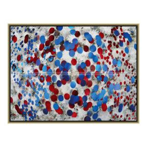 Dots : 80 x 60 cm – Grafisk kunst på lærred af Søren Grooss – Årstal : 2013