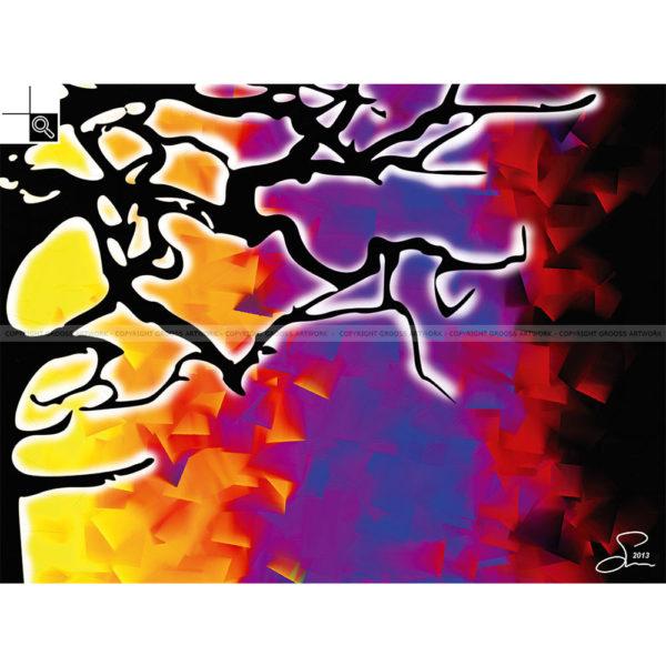 Let me grow : 80 x 60 cm – Grafisk kunst på lærred af Søren Grooss – Årstal : 2013