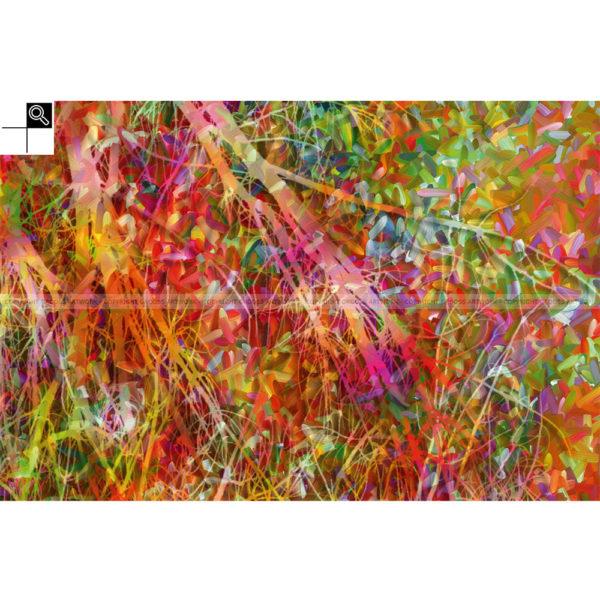 Waste colors : 60 x 40 cm – Grafisk kunst på lærred af Søren Grooss – Årstal : 2013
