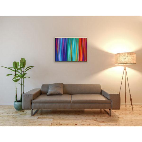 Directions from a stranger : 80 x 60 cm – Grafisk kunst på lærred af Søren Grooss – Årstal : 2014