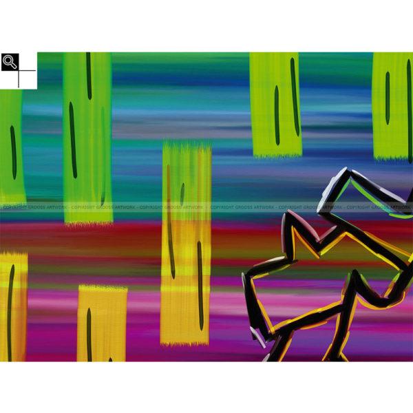 What comes next : 40 x 30 cm – Grafisk kunst på lærred af Søren Grooss – Årstal : 2014