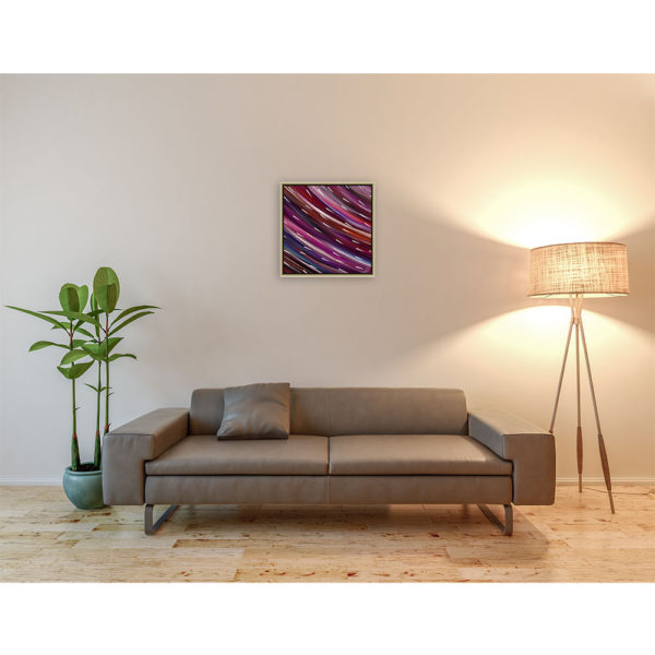 Around : 50 x 50 cm – Grafisk kunst på lærred af Søren Grooss – Årstal : 2014