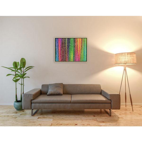 Difficult color puzzle : 80 x 60 cm – Grafisk kunst på lærred af Søren Grooss – Årstal : 2014