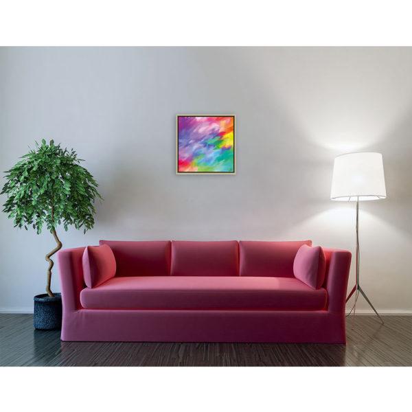 Unexplainable dream : 50 x 50 cm – Grafisk kunst på lærred af Søren Grooss – Årstal : 2014