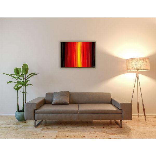 Can't find myself : 80 x 60 cm – Grafisk kunst på lærred af Søren Grooss – Årstal : 2014