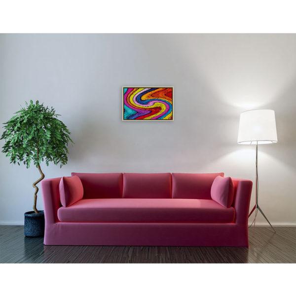 I'm invisible ill : 60 x 40 cm – Grafisk kunst på lærred af Søren Grooss – Årstal : 2014