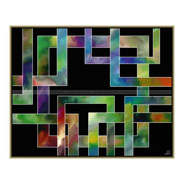 Surrender to me : 100 x 80 cm – Grafisk kunst på lærred af Søren Grooss – Årstal : 2014