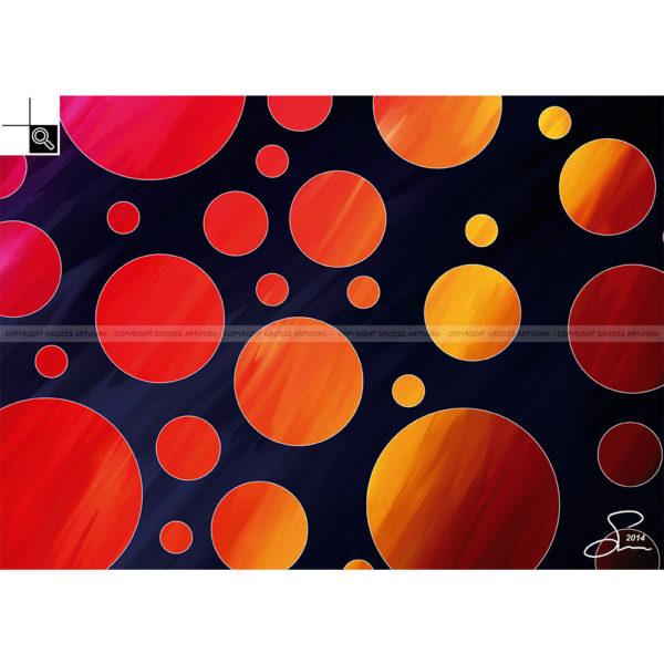 Moving to fast : 70 x 50 cm – Grafisk kunst på lærred af Søren Grooss – Årstal : 2014