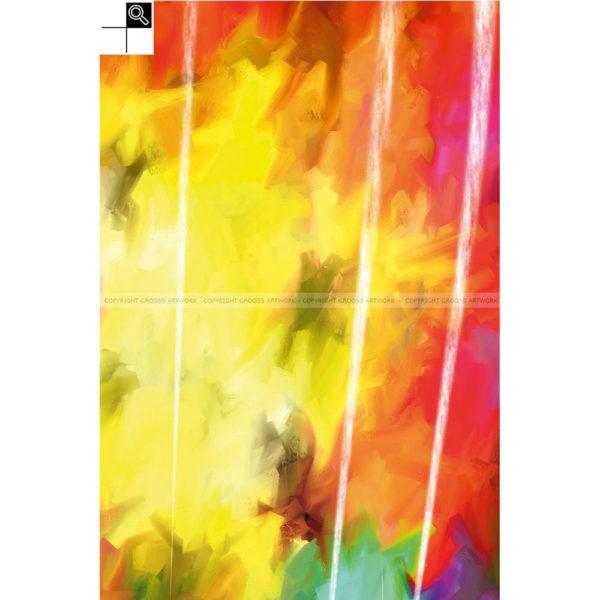 Skyliner : 40 x 60 cm – Grafisk kunst på lærred af Søren Grooss – Årstal : 2014