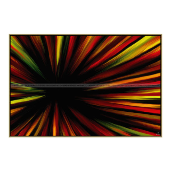 Hello world : 150 x 100 cm – Grafisk kunst på lærred af Søren Grooss – Årstal : 2014