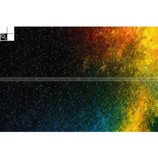Just for you : 150 x 100 cm – Grafisk kunst på lærred af Søren Grooss – Årstal : 2014