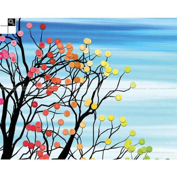 Do not pick my fruits : 100 x 80 cm – Grafisk kunst på lærred af Søren Grooss – Årstal : 2014