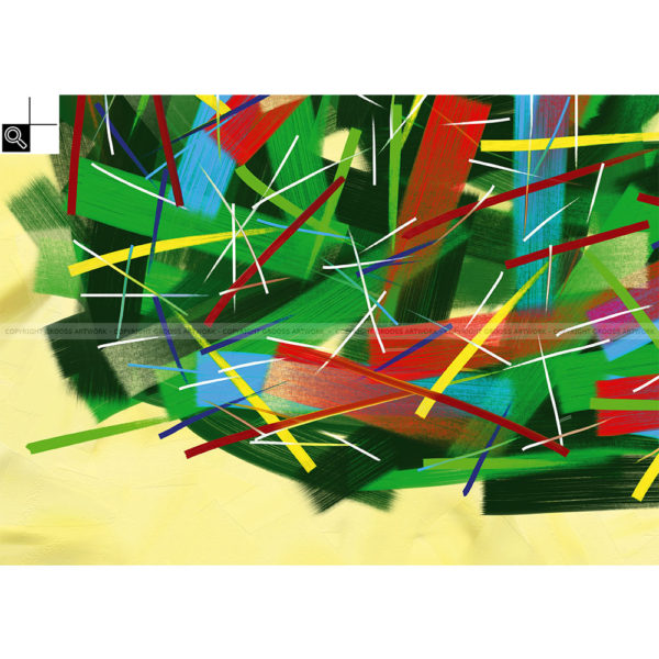 Afterlight : 70 x 50 cm – Grafisk kunst på lærred af Søren Grooss – Årstal : 2014