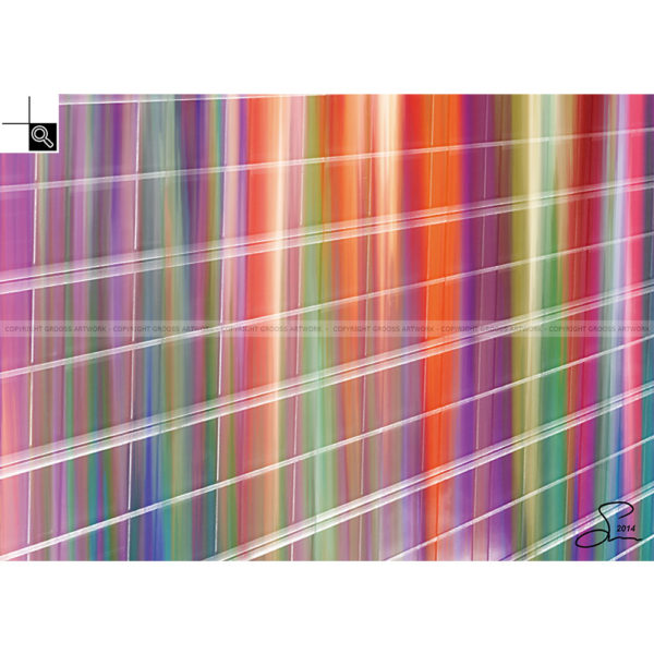 What are people looking at ? : 70 x 50 cm – Grafisk kunst på lærred af Søren Grooss – Årstal : 2014