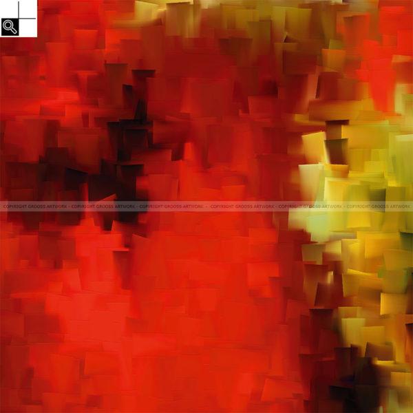 Autumn morning : 50 x 50 cm – Grafisk kunst på lærred af Søren Grooss – Årstal : 2014
