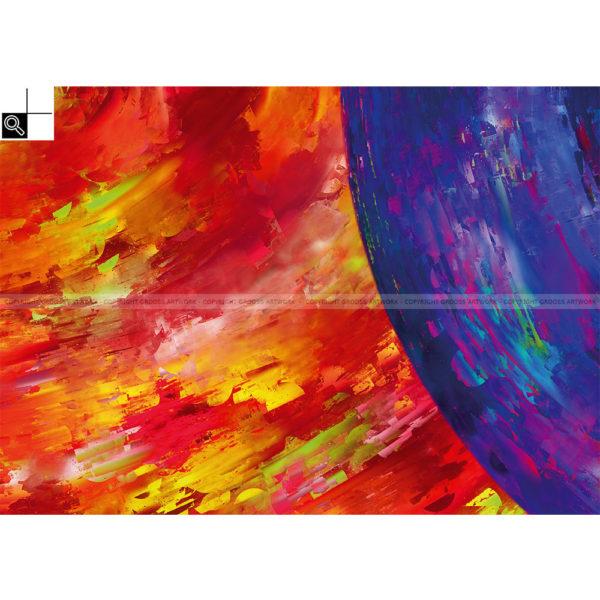 Behind the circles : 70 x 50 cm – Grafisk kunst på lærred af Søren Grooss – Årstal : 2015