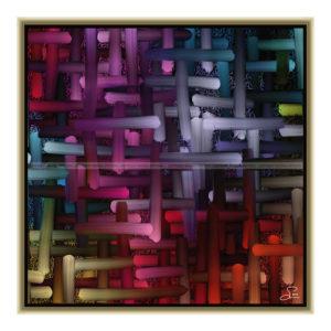 Let me feel : 50 x 50 cm – Grafisk kunst på lærred af Søren Grooss – Årstal : 2015