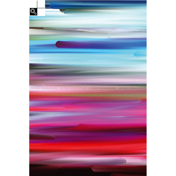 New worlds ''One'' : 40 x 60 cm – Grafisk kunst på lærred af Søren Grooss – Årstal : 2015