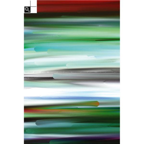 New worlds ''Two'' : 40 x 60 cm – Grafisk kunst på lærred af Søren Grooss – Årstal : 2015