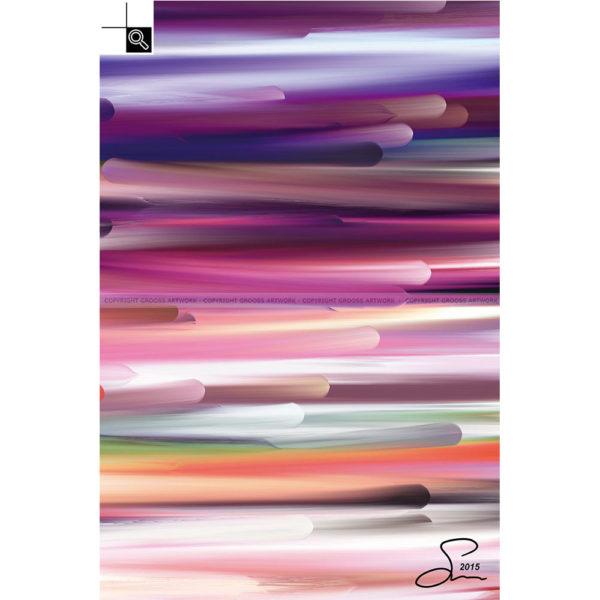 New worlds ''Three'' : 40 x 60 cm – Grafisk kunst på lærred af Søren Grooss – Årstal : 2015