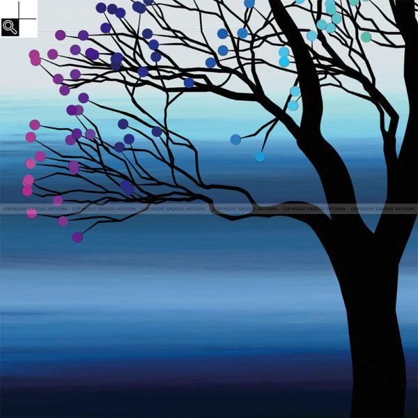 Small tree ''Two'' : 30 x 30 cm – Grafisk kunst på lærred af Søren Grooss – Årstal : 2015