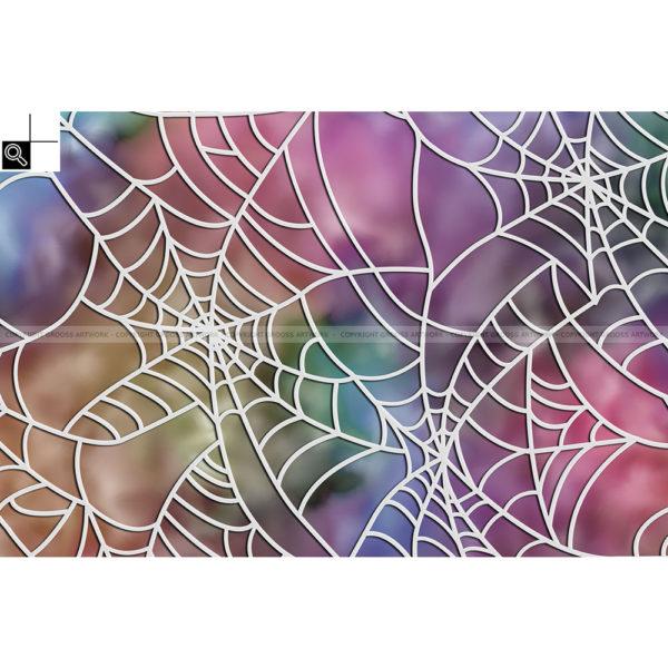 Spider on crack : 60 x 40 cm – Grafisk kunst på lærred af Søren Grooss – Årstal : 2016