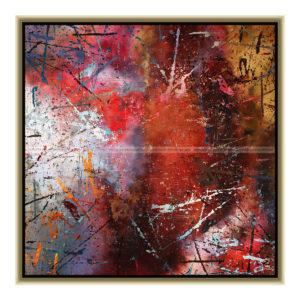Colors are natures smile ''One'' : 50 x 50 cm – Grafisk kunst på lærred af Søren Grooss – Årstal : 2016