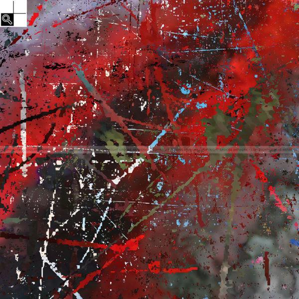 Colors are natures smile ''Two'' : 50 x 50 cm – Grafisk kunst på lærred af Søren Grooss – Årstal : 2016