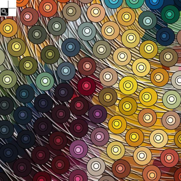 Groovy day : 50 x 50 cm – Grafisk kunst på lærred af Søren Grooss – Årstal : 2016