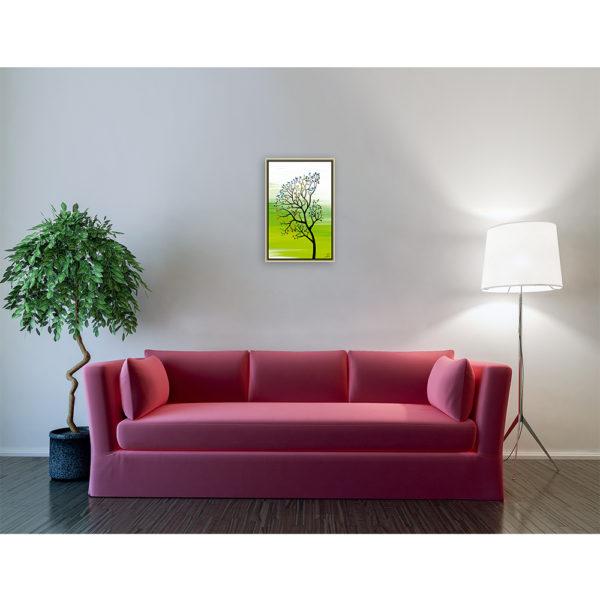 Back to earth ''Green'' : 40 x 60 cm – Grafisk kunst på lærred af Søren Grooss – Årstal : 2016