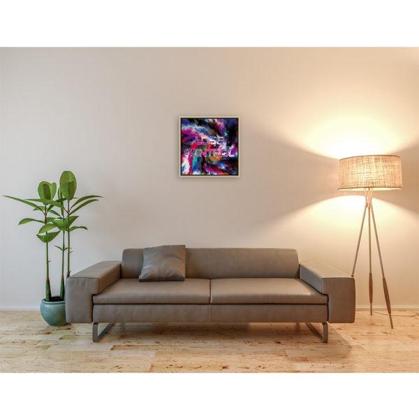 Lose control : 50 x 50 cm – Grafisk kunst på lærred af Søren Grooss – Årstal : 2017