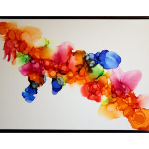 I've Been Waiting A3 - Alcohol ink på yupo papir - Af Søren Grooss